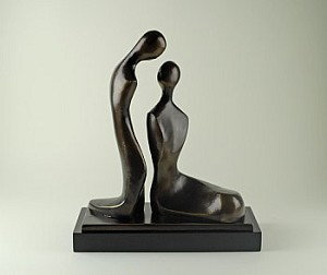 Bronze Lovers Sculpture