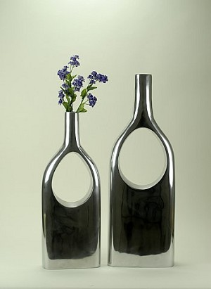 Large Cut Out Bottle Vases