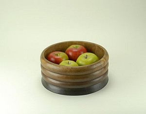 Wood Carved Ripple Bowl