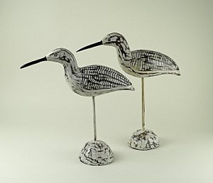 Wood Sandpipers Statues