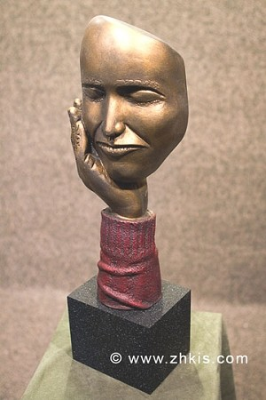 Hand and Face Sculpture