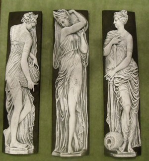 Greek Cameo Wall Plaques (set of 3)
