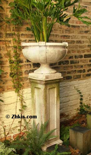 Bowl Style Urn With Straps