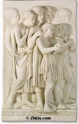 Greek People Singing Wall Plaque