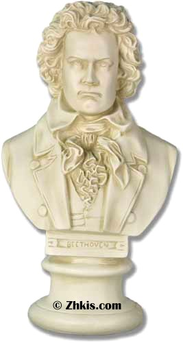 Beethoven Bust in Formal Dress
