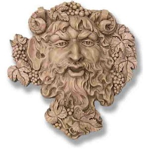 Large Bacchus Wall Plaque