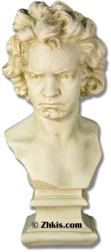 Beethoven Bust with Determined Look
