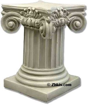 Ionic fluted column pedestal for Fluted pedestal base
