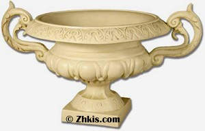Ornate Urn With Handles Large