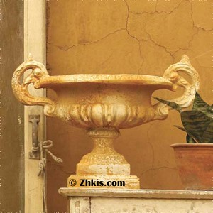 Ornate Urn With Handles Small