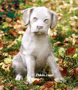 Labrador Puppy Dog Statue