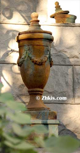 Tall Finial Vessel with Lid
