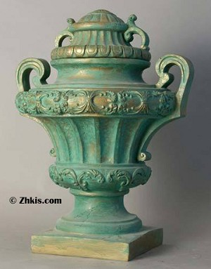 Large Urn with Handles and Lid