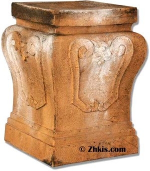 Decorative Scroll Pedestal