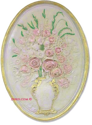 Flowers in Vase Wall Plaque