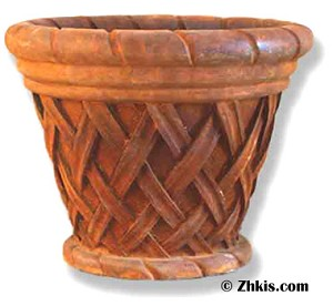 Small Basket Style Planter Pot