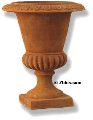 Smooth Urn With Big Lip Small