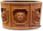 Round Lion Head Planter Small