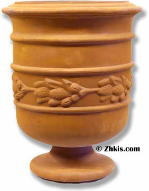 Barrel Style Urn on Stand