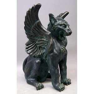 Large Griffin Statue with Wings Statue