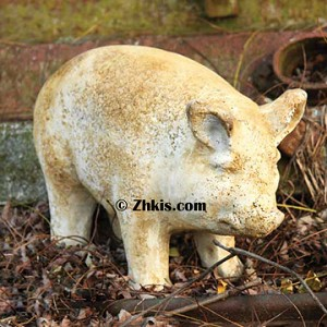 Small Standing Pig Statue