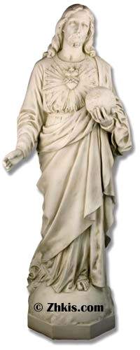 Jesus With World In His Hands Statue