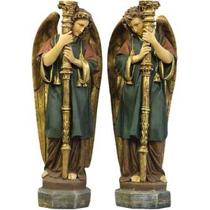 Altar Guardian Angel Church Statue (Set)