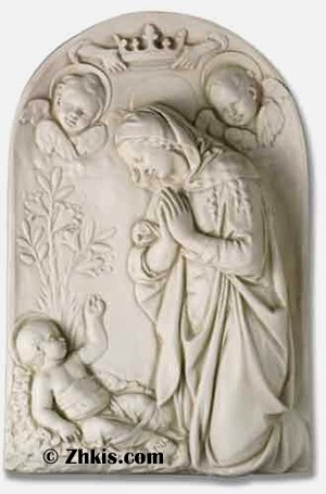 Large Mary and Jesus Wall Plaque