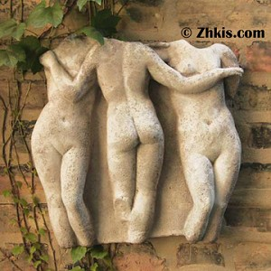 Three Graces Wall Plaque Small