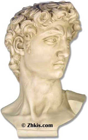Giant Bust of David Statue