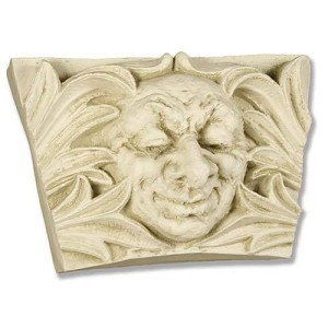 Large Smiling Man in Leaves Wall Plaque