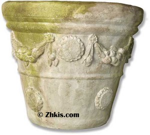 Flower Motif Planter Pot Large