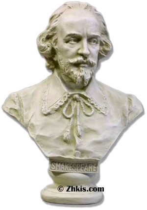 Shakespeare the Writer Bust