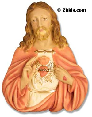 Jesus Wall Plaque With Sacred Heart