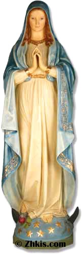 Large Mary Statue In Color