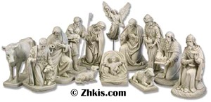 Complete Outdoor Nativity Scene