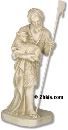 Shepherd With Sheep for Nativity Statue