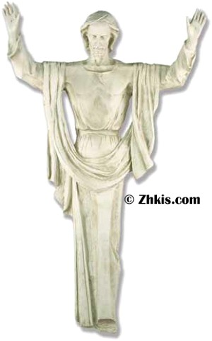 Life Size Rising Christ Wall Statue