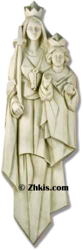 Large Mary with Jesus Wall Plaque