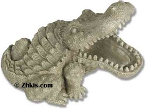 Small Alligator Garden Statue