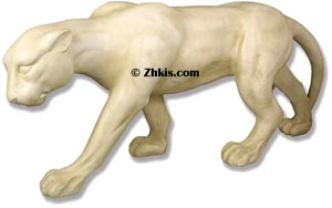 Life size Panther Stalking Statue