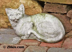 Outdoor House Cat Statue