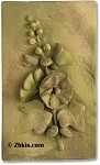 Hollyhock Wall Plaque