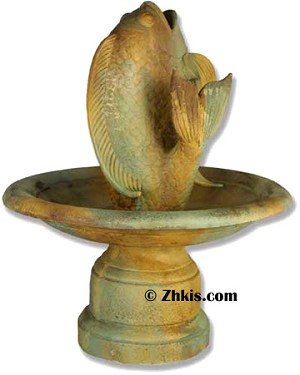 Fish and Pedestal Fountain