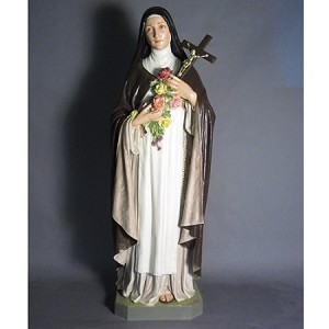 Life Size Saint Therese Statue in Color