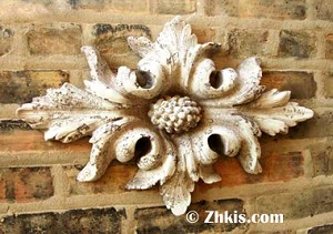 Flower and Leaves Wall Plaque