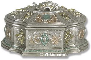 Jewelry Box with Lid in Silver
