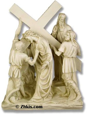 Jesus and Simon Statue (small)