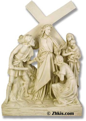 Jesus Meets Women Statue (small)