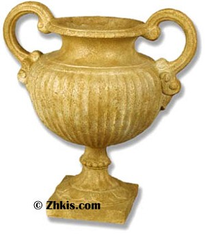 Ornate Handle Planter Urn Small